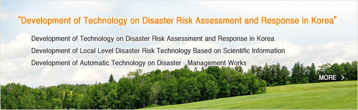 Development of Technology on Disaster Risk Assessment and Response in Korea